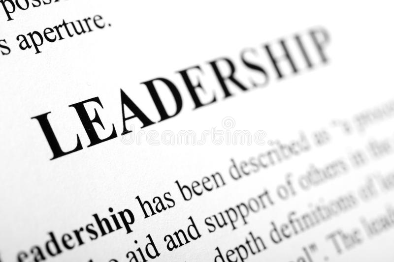 Leadership. The word Leadership shot with artistic selective focus stock image