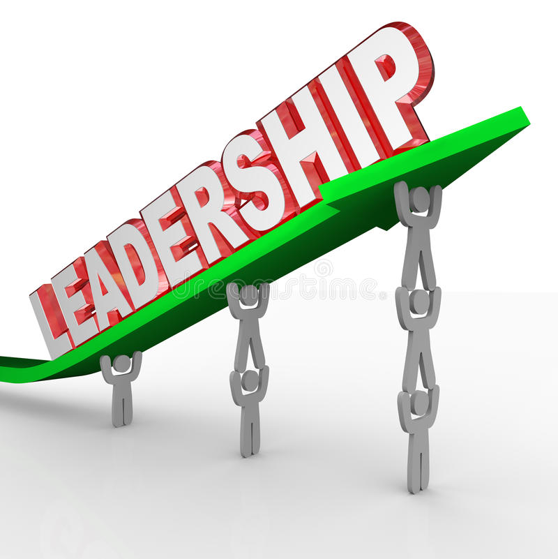 Leadership Word Team Lifting Arrow Management Vision royalty free illustration