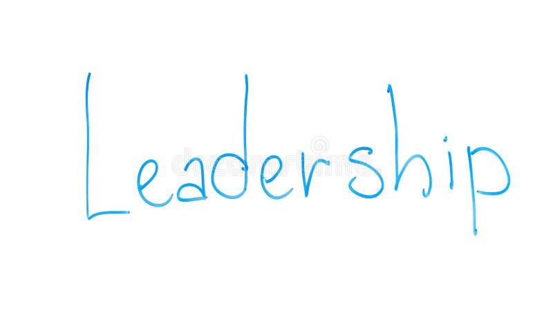 Leadership word written on glass, organizational skills, power and inspiration stock photo