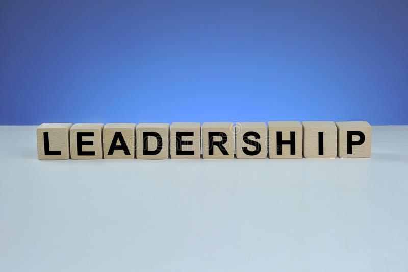 Leadership word written on wood cube stock photo