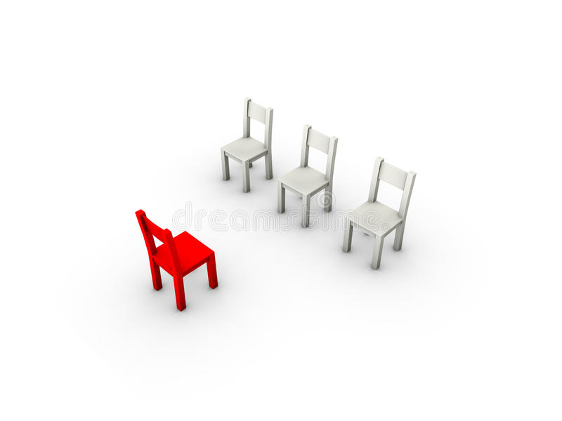 Leading chair royalty free stock images