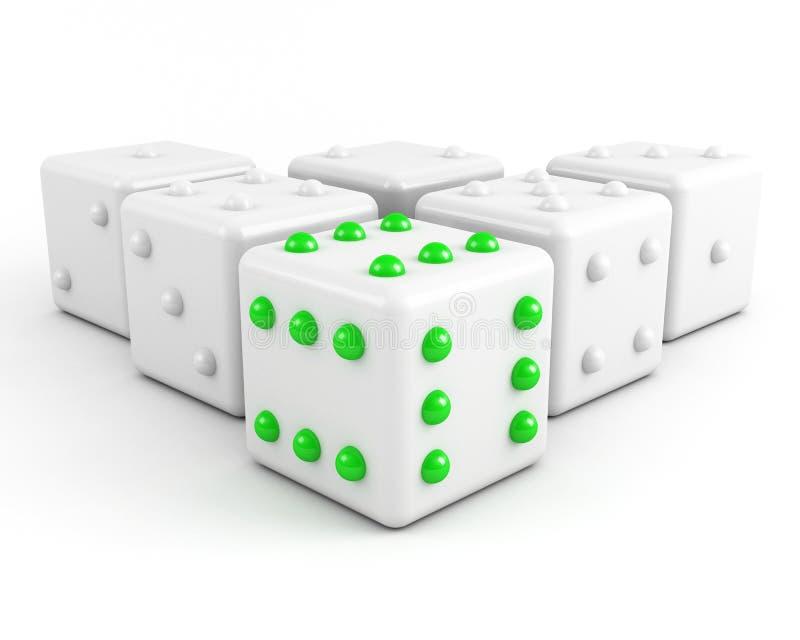 Leading dice vector illustration