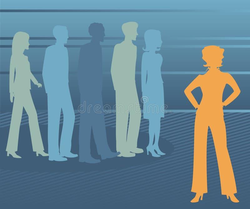 Leading the Pack - Female stock illustration