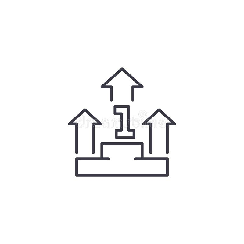 Leading position linear icon concept. Leading position line vector sign, symbol, illustration. Leading position line icon, vector illustration. Leading position vector illustration