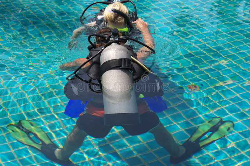 Download Leading to scuba dive stock photo. Image of swimming, underwater - 5835018