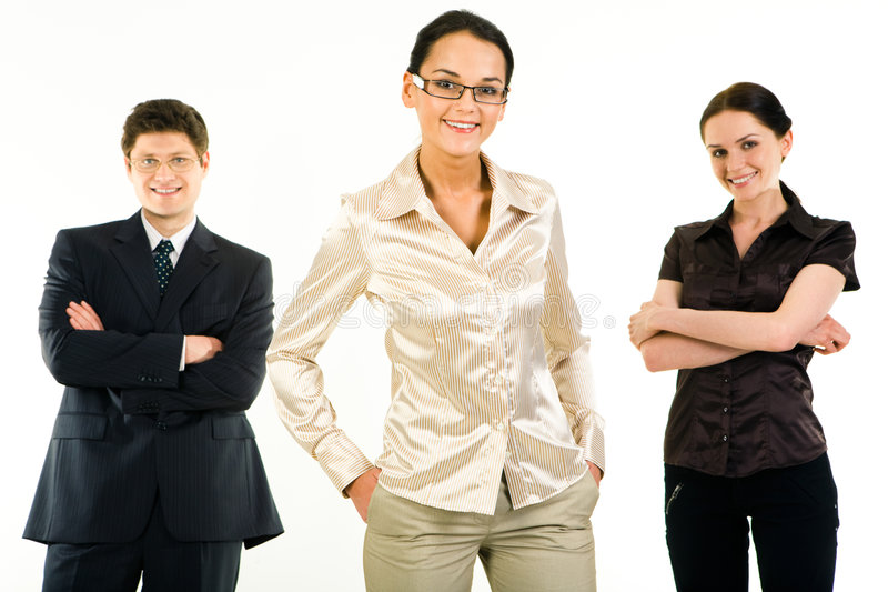 Leading woman stock photo