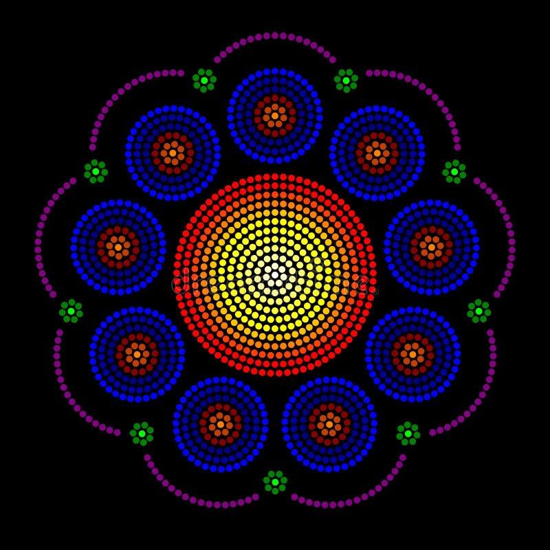 Leadlight e modelli di punto radiali della finestra della rosetta illustrazione vettoriale