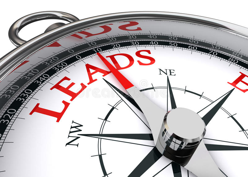 Leads conceptual compass royalty free illustration