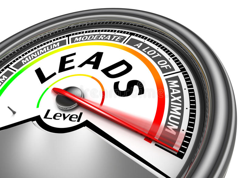 Leads conceptual meter stock photo