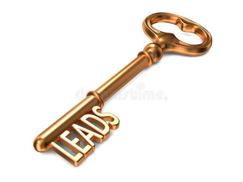 Leads - Golden Key. vector illustration