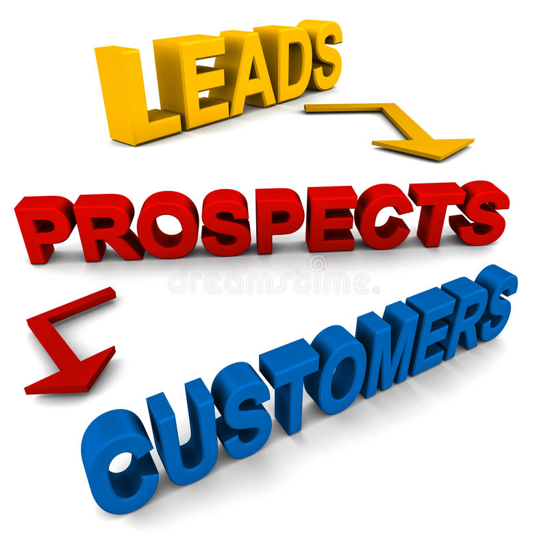 Leads prospects customers royalty free illustration