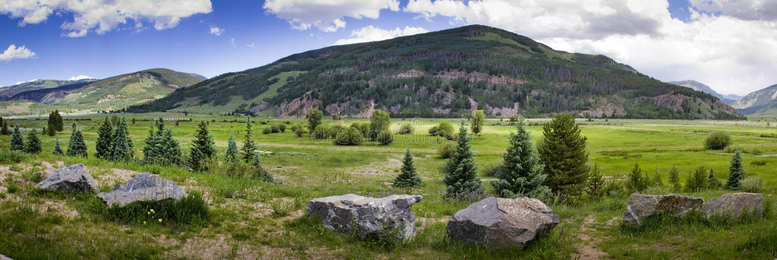 Leadville Colorado Camp Hale Training Location of 10th Mountain Division. This valley just outside Leadville, Colorado was the training location for the 10th royalty free stock image