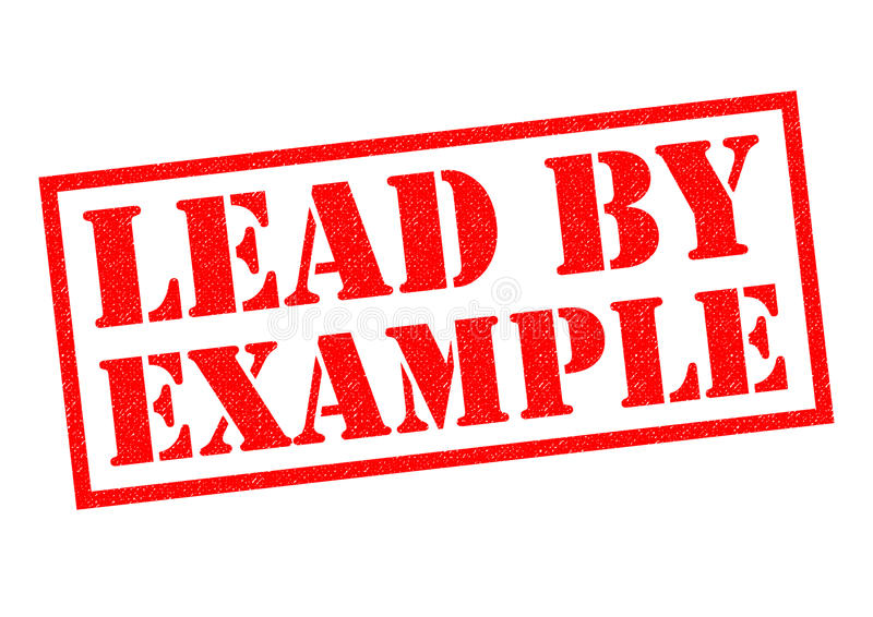 LEADY BY EXAMPLE royalty free illustration