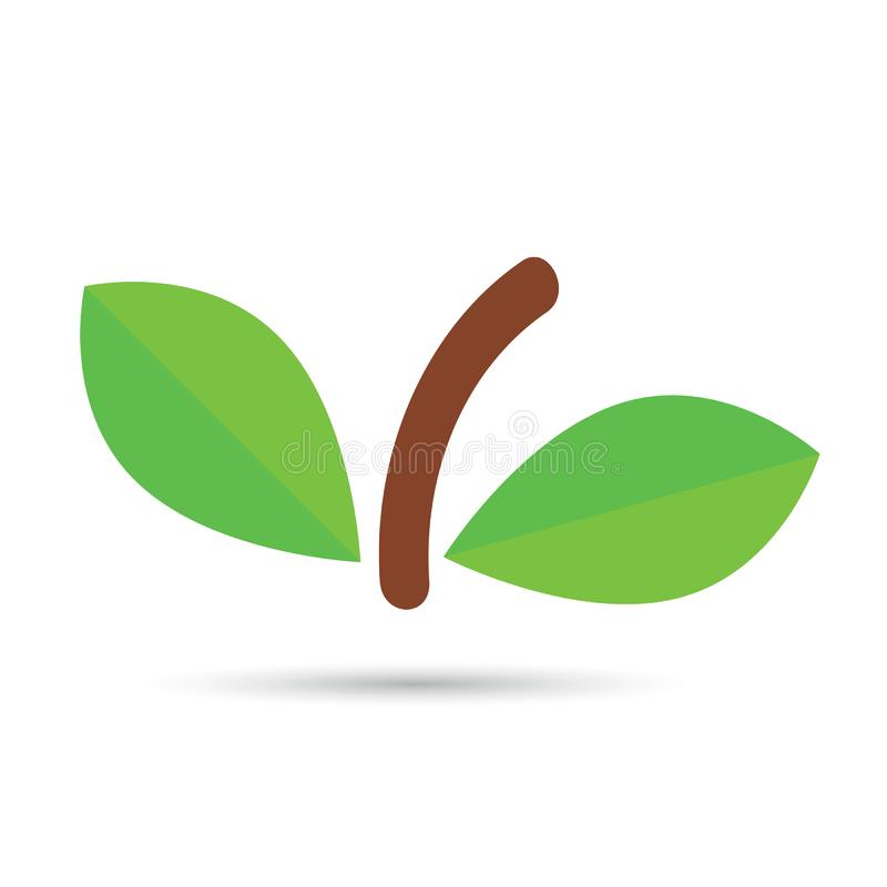 Leaf with brown pedicel vector stock photos