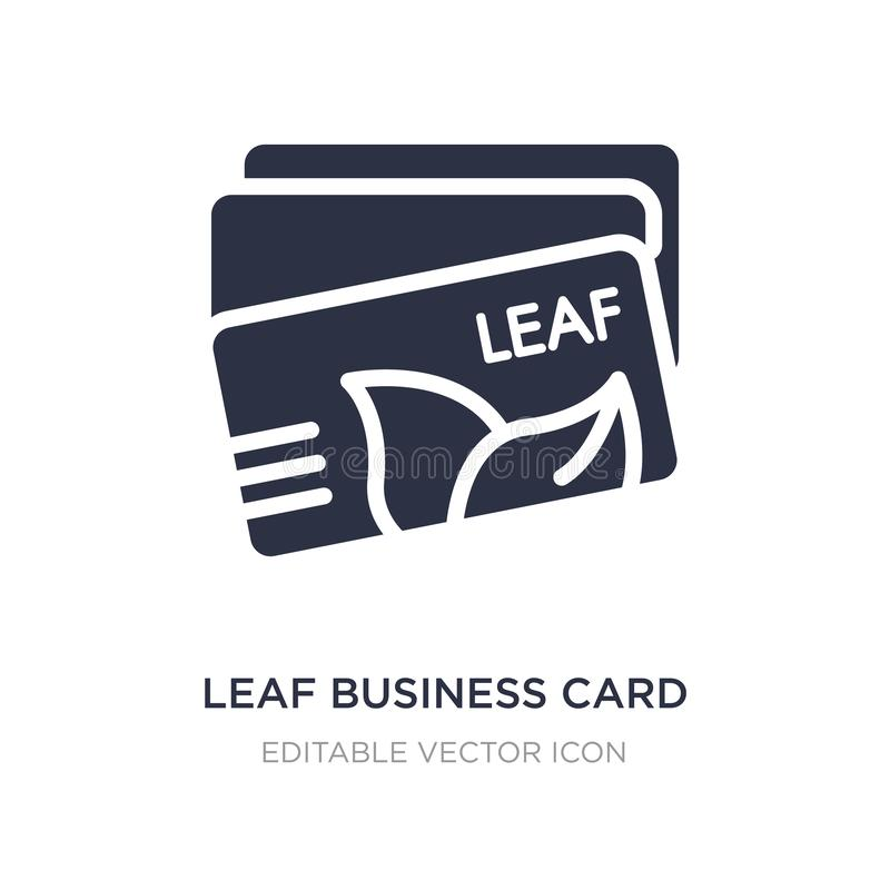 Leaf business card icon on white background. Simple element illustration from Other concept. Leaf business card icon symbol design vector illustration