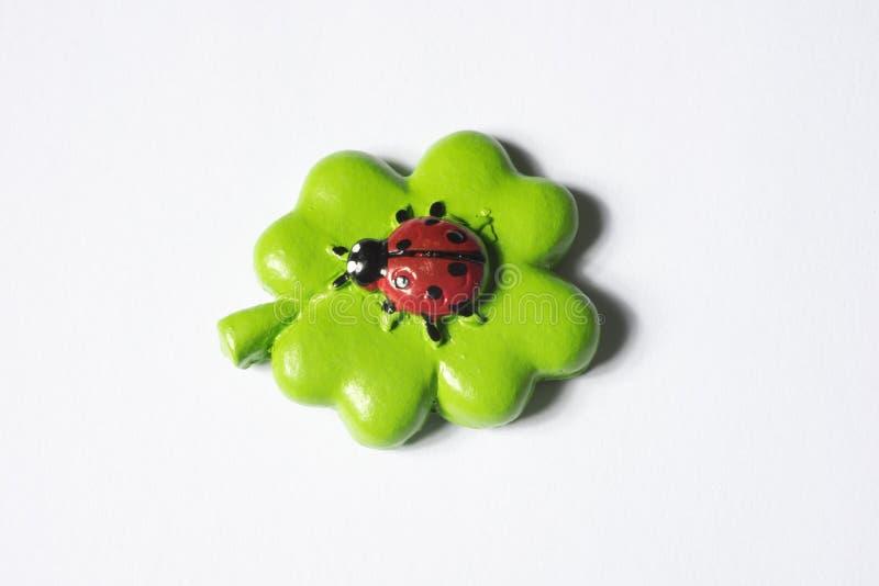 4 leaf cloverleaf as concept of luck.  stock images