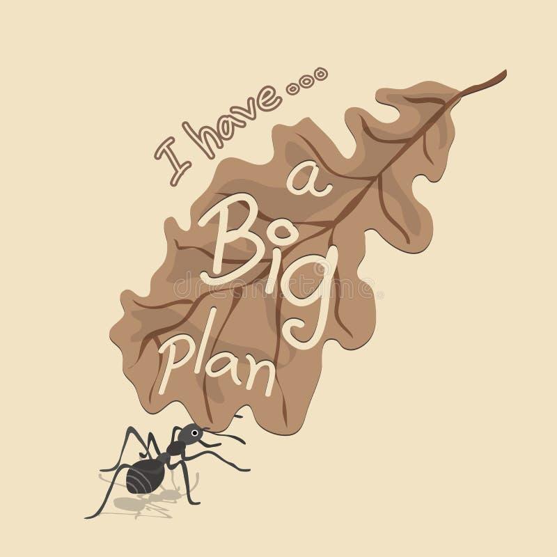 Leaf Cutter Ant Concept stock illustration