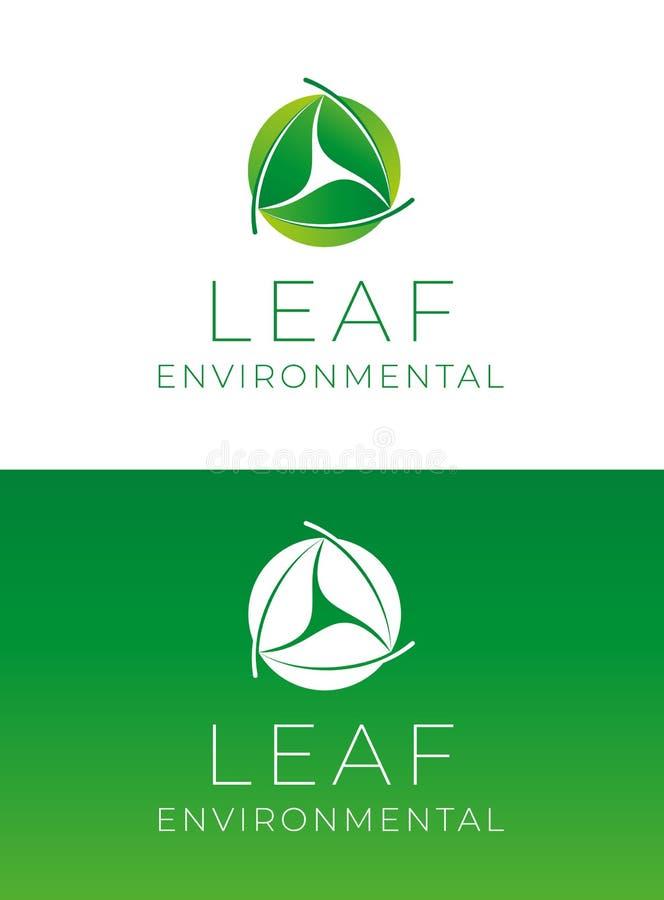 Leaf Environmental Company Logo Template royalty free illustration