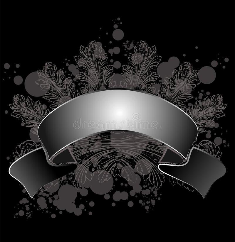 leaf för banercalligraphygrunge vektor illustrationer