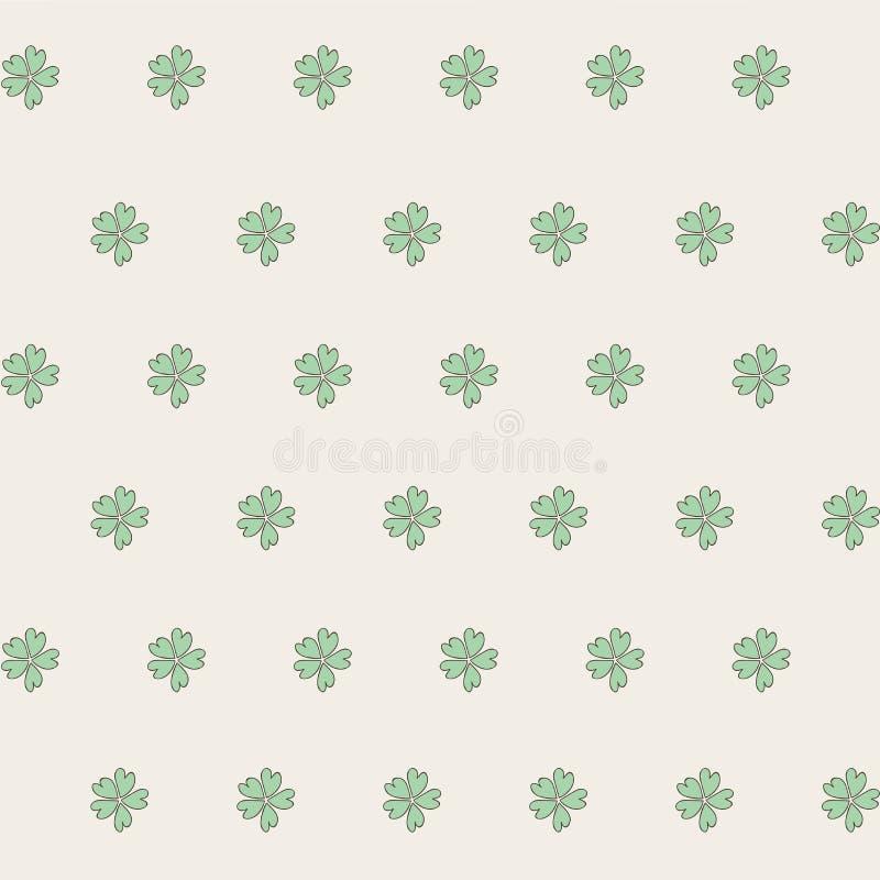 leaf för växt av släkten Trifolium fem Ovanlig tappningmodell var kan formgivare varje för objektoriginal för evgeniy diagram sjä vektor illustrationer