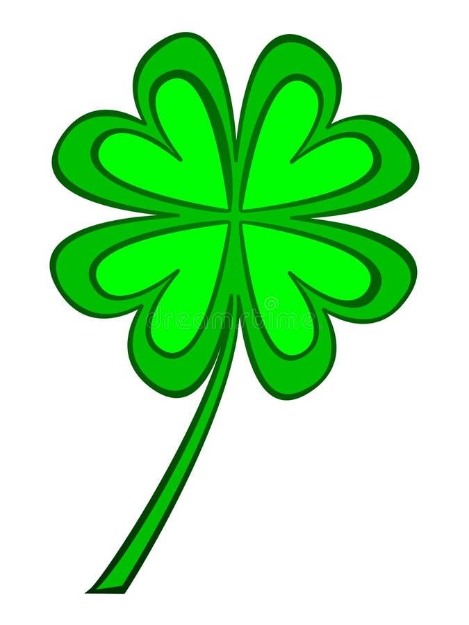 leaf för växt av släkten Trifolium fyra royaltyfri illustrationer