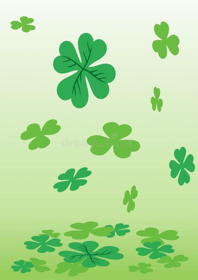 leaf för växt av släkten Trifolium fyra stock illustrationer