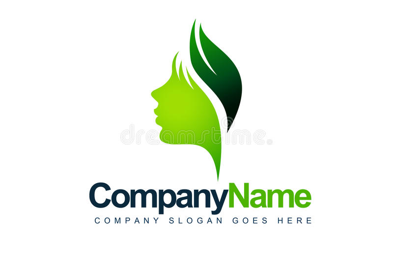 Leaf Face Logo royalty free illustration