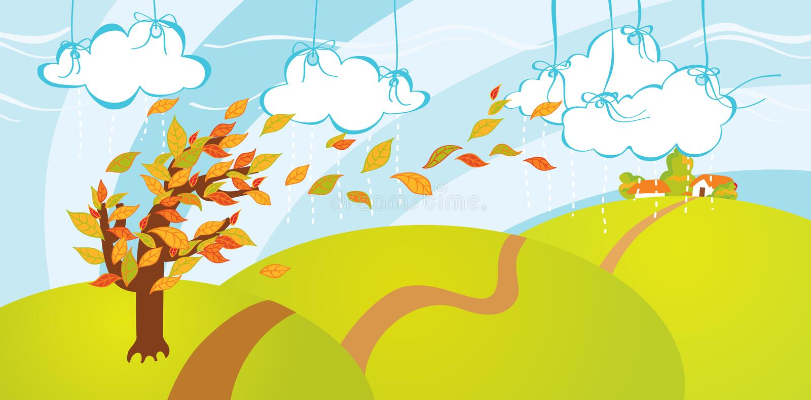 Download Leaf fall stock vector. Illustration of autumn, circle - 11243704