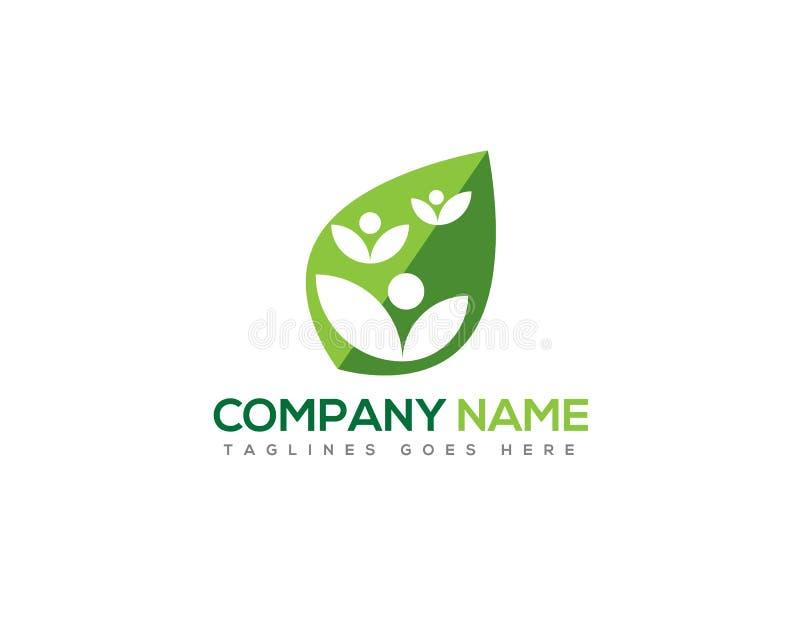 Leaf figure ecology company logo royalty free illustration