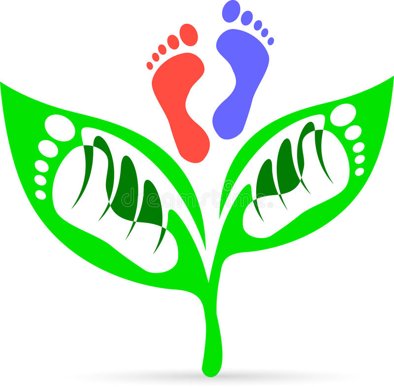 Download Leaf foot print stock vector. Illustration of decorative - 26194369