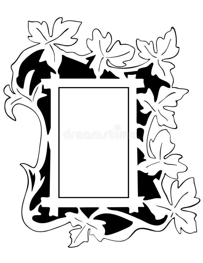 Leaf Frame - outline stock vector. Illustration of leaves - 7391102