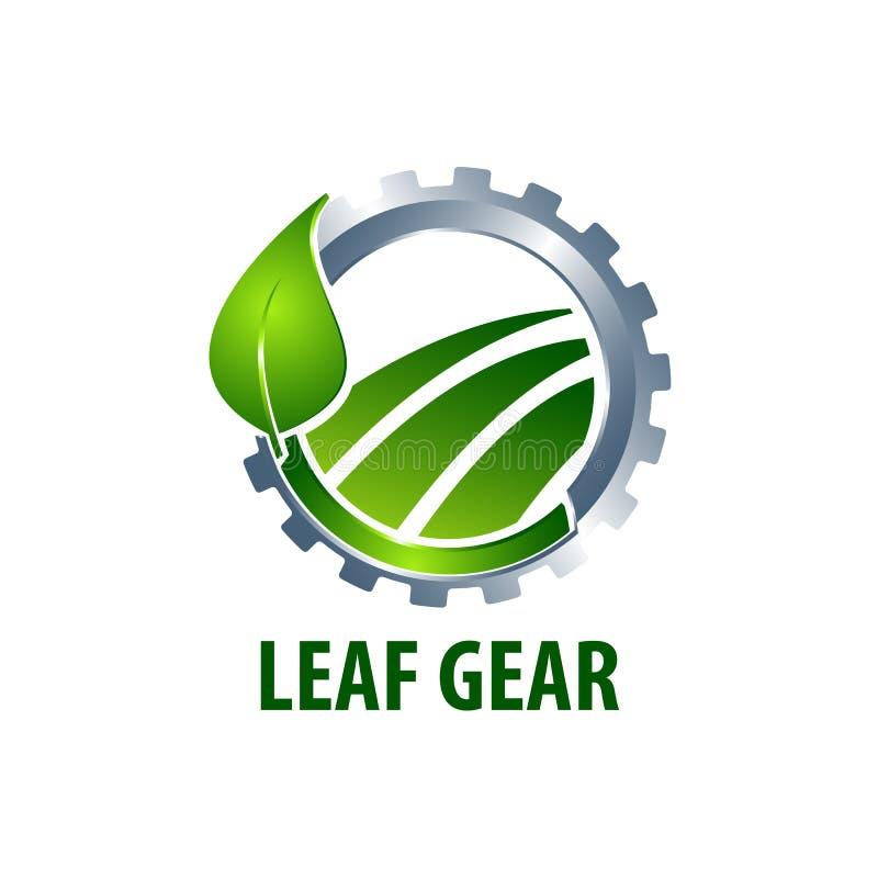 Leaf gear logo concept design. Symbol graphic template element. Vector royalty free illustration
