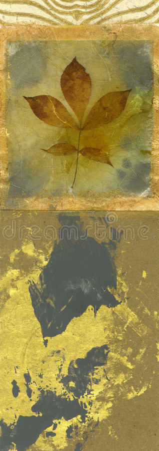 Leaf and Gold stock photography