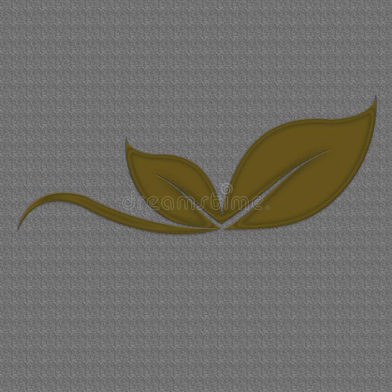 Gold Leafs Logo Good stock illustration
