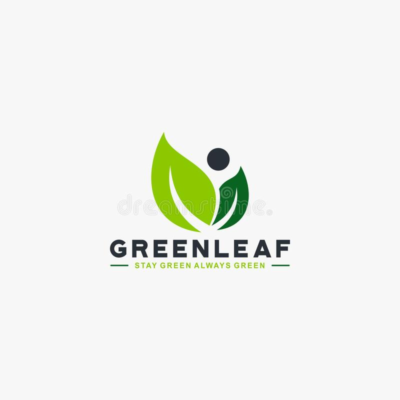 Leaf green tree logo design vector stock photography