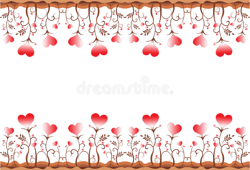Leaf heart border. Illustration art leaf heart border with isolated background vector illustration