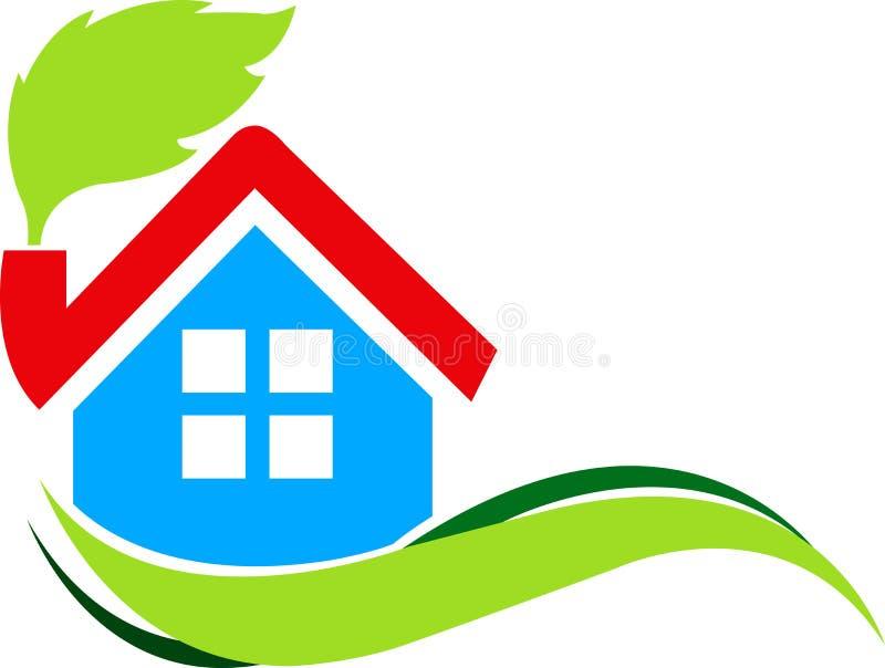 Download Leaf home stock vector. Illustration of building, leafs - 19190799