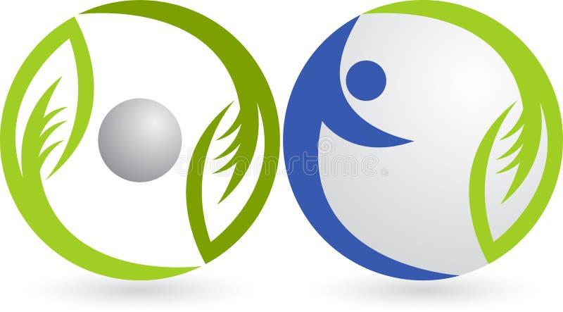 Leaf human logo royalty free illustration