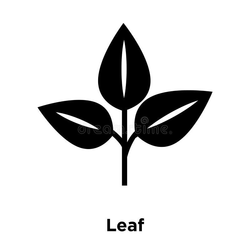 Leaf icon vector isolated on white background, logo concept of L. Eaf sign on transparent background, filled black symbol stock illustration