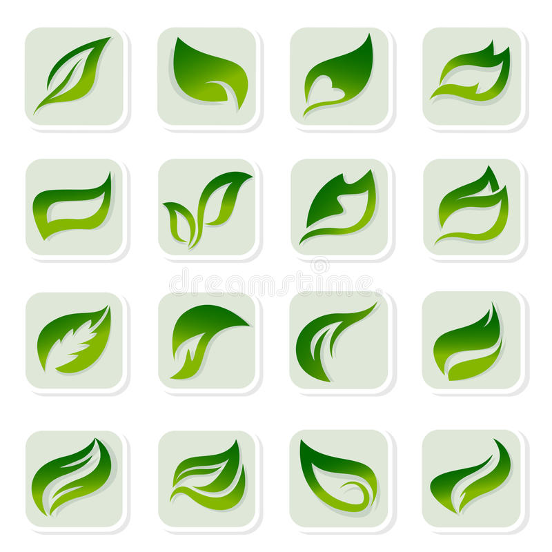 Download Leaf Icons Stock Photos - Image: 13754493