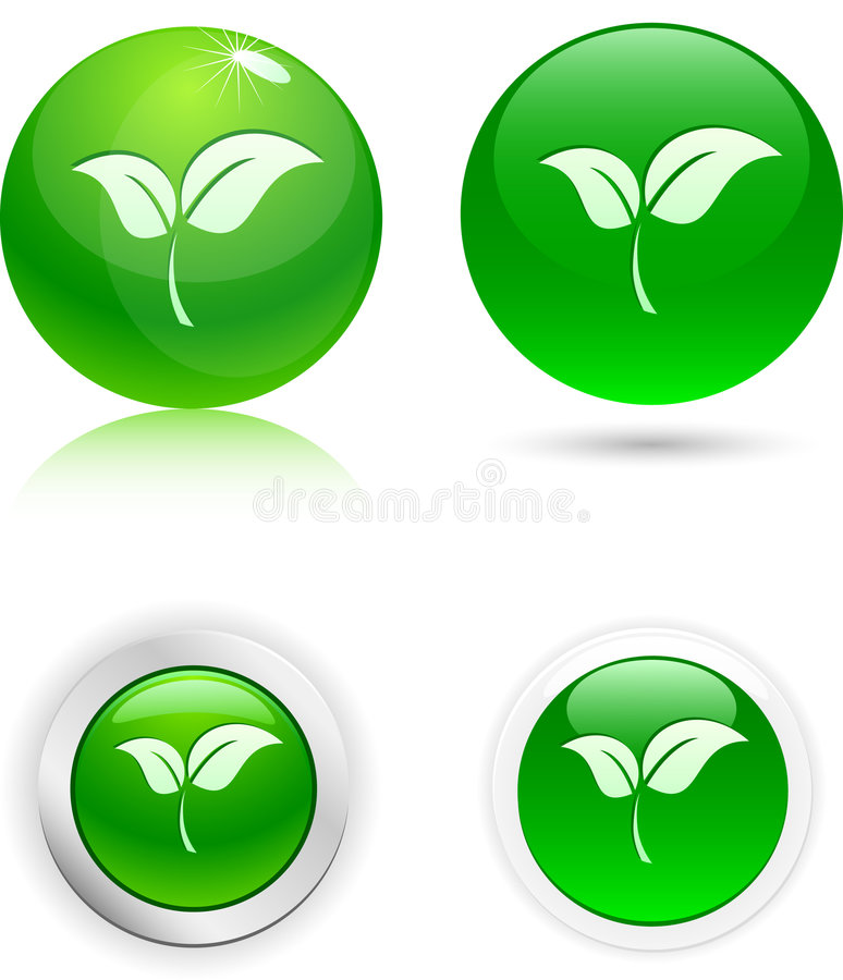 Download Leaf Icons. Stock Photos - Image: 6013673