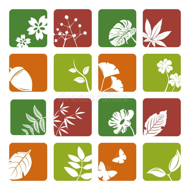 Download Leaf icons set stock vector. Illustration of abstract - 17526590