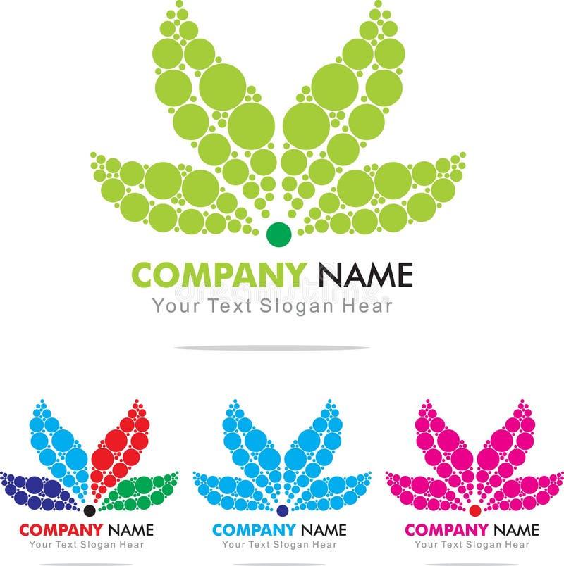 Leaf. Lief Logo Design Template royalty free illustration
