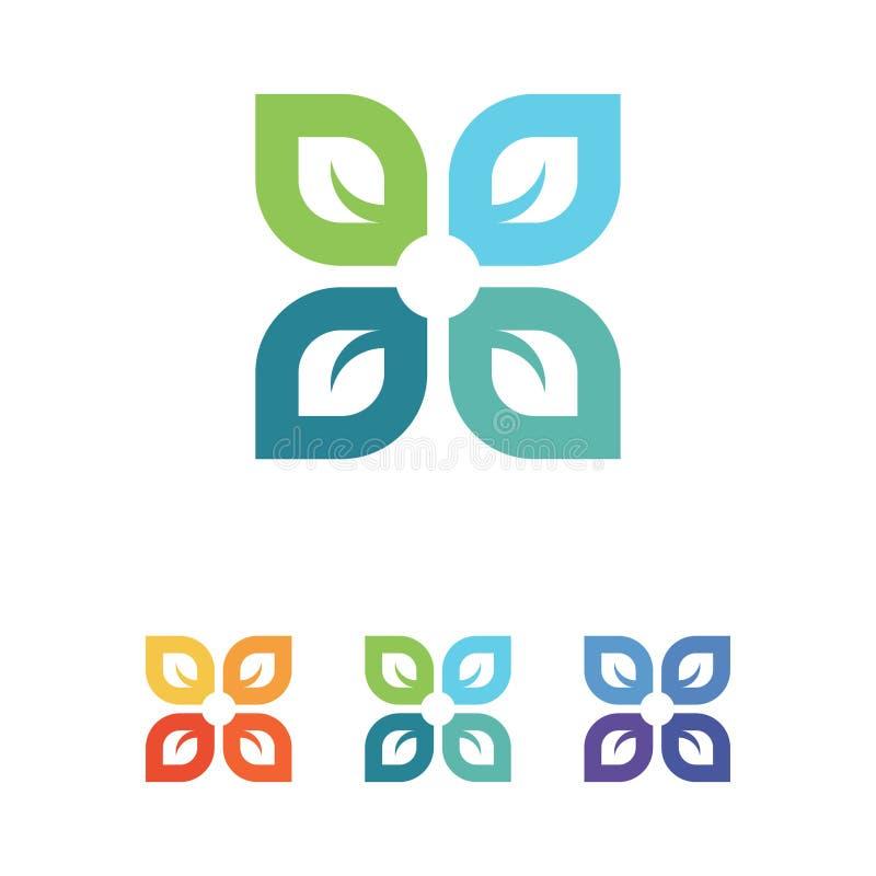 Leaf Plant Logo, Organic, Nature, Ecology, Green, Leaves, Wellness, App Logo, Abstract, Logo, Logo Design, Business, Company, Corp royalty free illustration