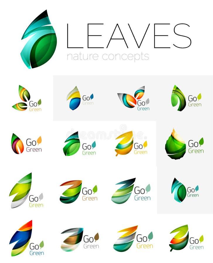Free Leaf Logo Set Royalty Free Stock Photo - 72199325