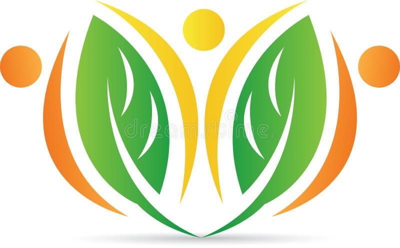 Leaf logo royalty free illustration