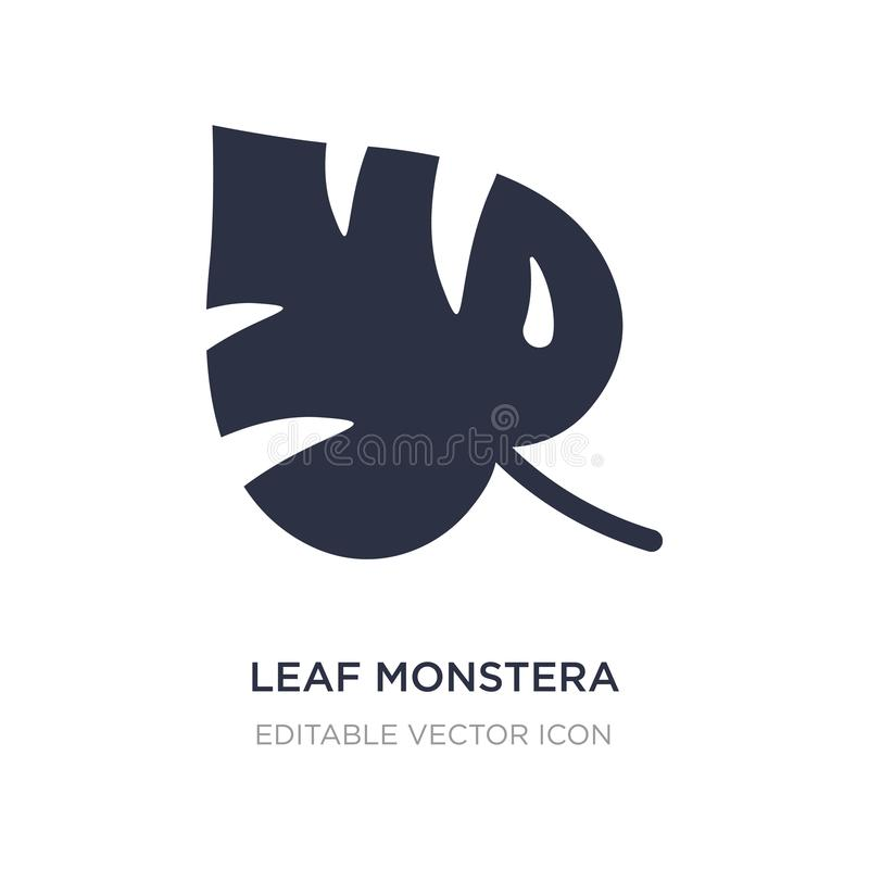 Leaf monstera icon on white background. Simple element illustration from Nature concept. Leaf monstera icon symbol design vector illustration