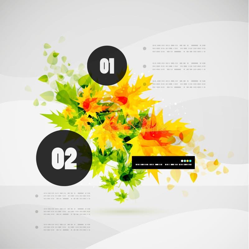 Leaf nature infographics modern template royalty free illustration