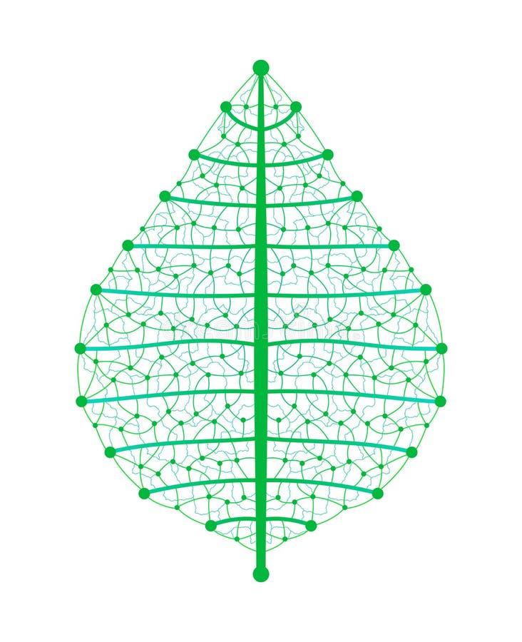 Leaf network royalty free illustration
