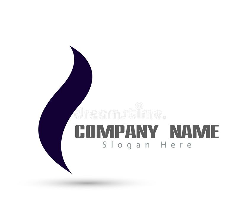 Leaf new trendy logo stock illustration